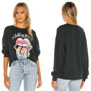 New Daydreamer Rolling Stones Tie Dye Sweatshirt